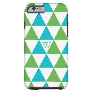 Colorful Triangle Pattern Monogram iPhone 6 case