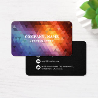 Colorful Triangle Pattern Personalize Business Card