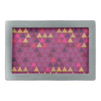 Colorful Triangles Belt Buckles