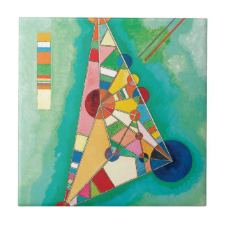 Colorful Triangles by Wassily Kandinsky Tile