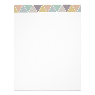 Colorful Triangles Customized Letterhead