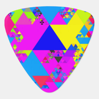 Colorful Triangles Guitar Pick