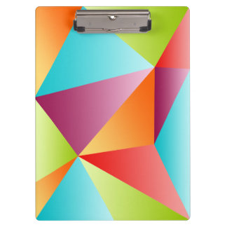 Colorful Triangles Mosaic Clipboard