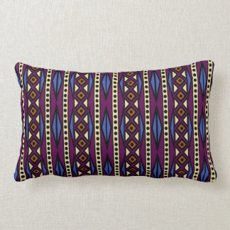 Colorful Tribal Aztec Boho Geometric Style Lumbar Pillow