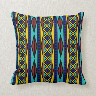 Colorful Tribal Aztec Boho Geometric Style Throw Pillow