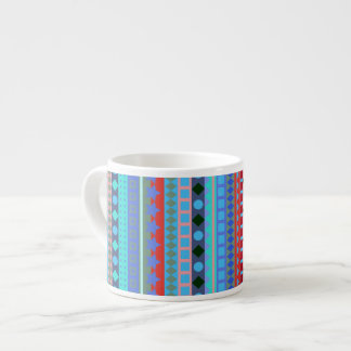 Colorful Tribal Aztec ZigZag Stripes Espresso Cup