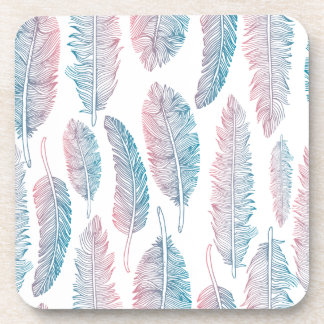 Colorful Tribal Feather Pattern | Coaster