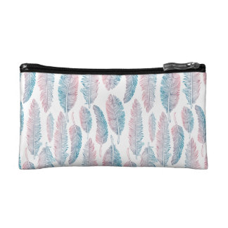 Colorful Tribal Feather Pattern | Cosmetic Bag