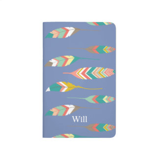 Colorful Tribal Feathers Pocket Journal