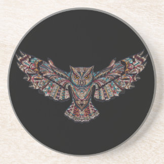 Colorful Tribal Flying Owl Coaster