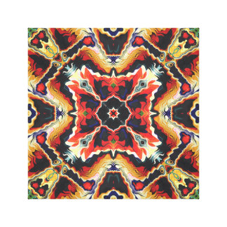 Colorful Tribal Geometric Abstract Canvas Print