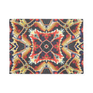 Colorful Tribal Geometric Abstract Doormat