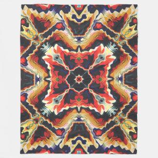 Colorful Tribal Geometric Abstract Fleece Blanket