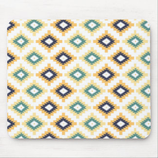 Colorful Tribal Geometric Pattern 2a Mouse Pad