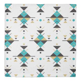 Colorful Tribal Geometric Patternl Duvet Cover