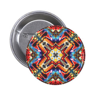 Colorful Tribal Motif 2 Inch Round Button