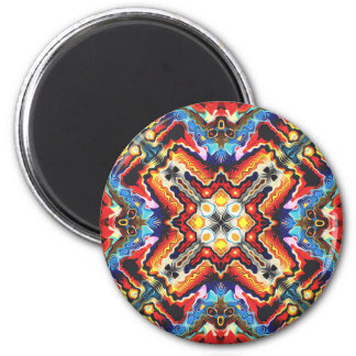 Colorful Tribal Motif 2 Inch Round Magnet