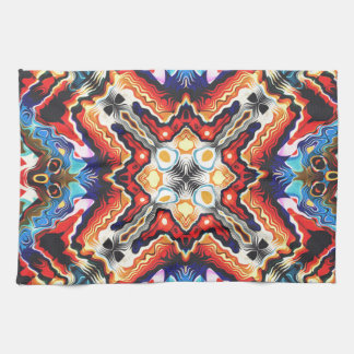Colorful Tribal Motif Hand Towels