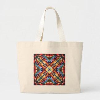 Colorful Tribal Motif Large Tote Bag