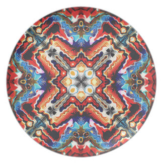 Colorful Tribal Motif Party Plates