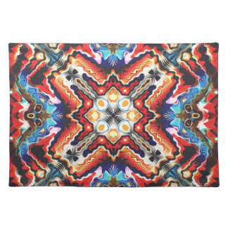 Colorful Tribal Motif Place Mats