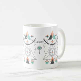 Colorful Tribal Totem Design Coffee Mug
