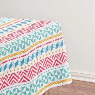 Colorful Tribal ZigZag Geometric Pattern Tablecloth