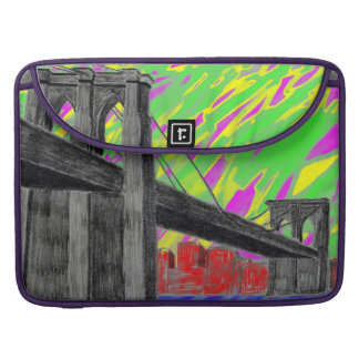 Colorful trippy new york bridge sleeve for MacBook pro