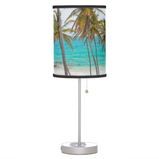 Colorful Tropical Beach Table Lamp