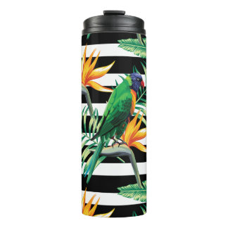 Colorful Tropical Bird Thermal Tumbler