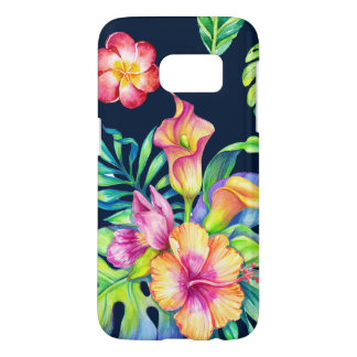 Colorful Tropical Exotic Flowers Bouquet Samsung Galaxy S7 Case
