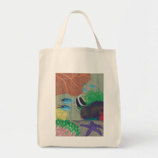 Colorful Tropical fish painting Canvas Bags