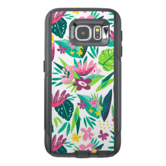 Colorful Tropical Flowers & Leafs Pattern IDp001