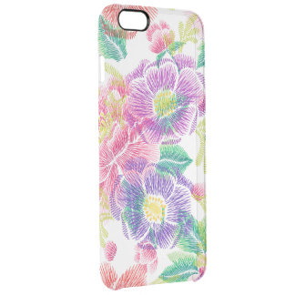 Colorful Tropical Flowers Pattern GR2 Clear iPhone 6 Plus Case