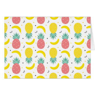 Colorful Tropical Fruit Pattern Card