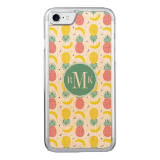 Colorful Tropical Fruit Pattern Carved iPhone 8/7 Case