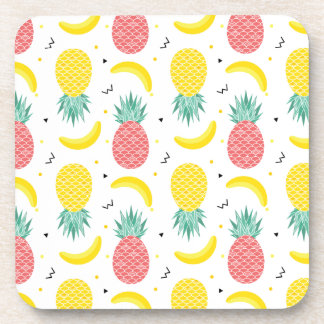 Colorful Tropical Fruit Pattern Coaster