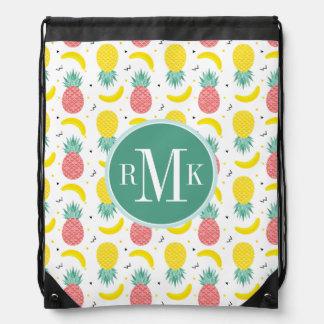 Colorful Tropical Fruit Pattern Drawstring Bag