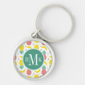 Colorful Tropical Fruit Pattern Keychain