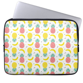 Colorful Tropical Fruit Pattern Laptop Sleeve