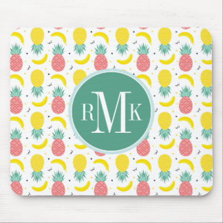 Colorful Tropical Fruit Pattern Mouse Pad
