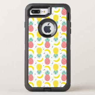 Colorful Tropical Fruit Pattern OtterBox Defender iPhone 8 Plus/7 Plus Case