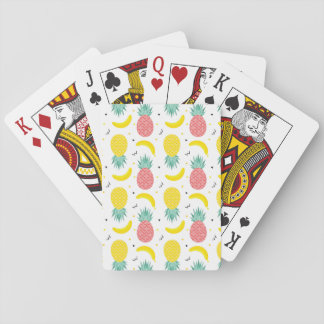 Colorful Tropical Fruit Pattern Playing Cards