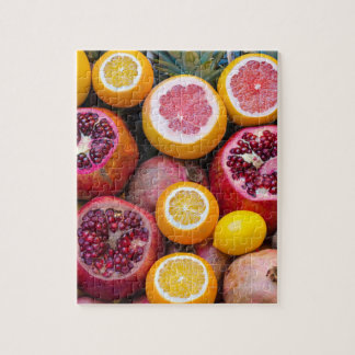 Colorful tropical healthy fruits jigsaw puzzle