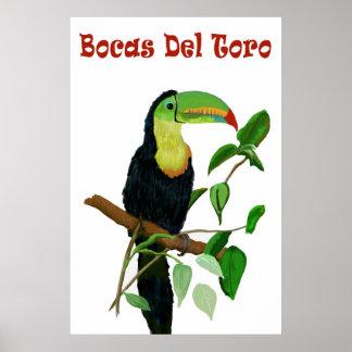 Colorful & Tropical Panamas Toucan Poster. Poster