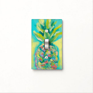 Colorful Tropical Pineapple Light Switch Cover
