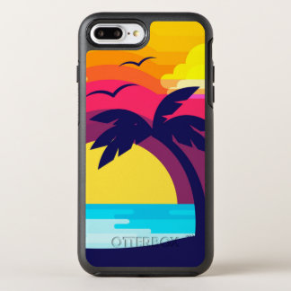 Colorful Tropical Sunset & Palm Tree | Phone Case