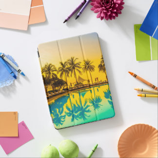 Colorful Tropical Sunset Palm Trees iPad Air Case iPad Air Cover