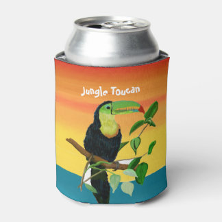 Colorful Tropical Toucan Sunrise Drink Cooler