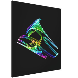 Colorful Trumpet Fractal Canvas Print
